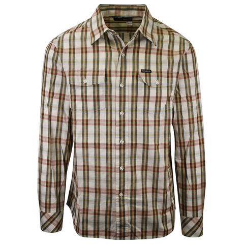 Rocawear Men's Vanilla Second To None Plaid L/S Woven Shirt (Size S & M)