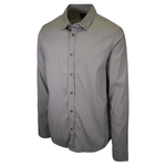 prAna Men's Grey L/S Woven Shirt (S65)