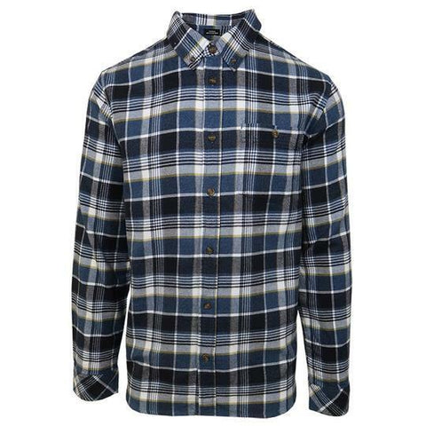 O'neill Men's Navy Redmond Plaid L/S Flannel Shirt