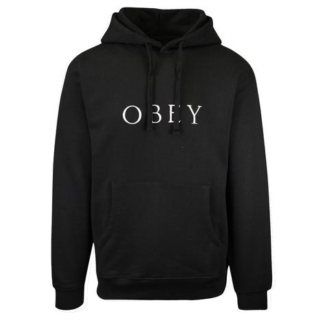 OBEY Men's Black Ideals Sustainable L/S Pull Over Hoodie (Retail $68)