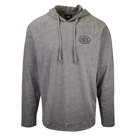 O'Neill Men's Heather Grey Lightweight L/S Pullover Hoodie