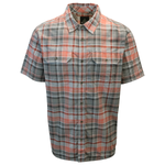 prAna Men's Red Grey Charcoal Cayman S/S Woven Shirt (S13)