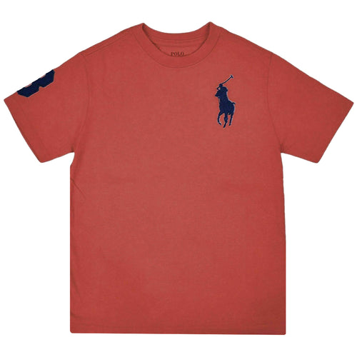 Polo Ralph Lauren Kid's Big Pony #3 Heather Red S/S T-Shirt