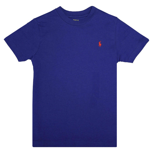 Polo Ralph Lauren Kid's True Blue Red Classic Round Neck S/S T-Shirt