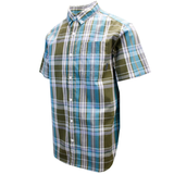 Columbia Men's Olive Blue Plaid Rapid Rivers II S/S Shirt