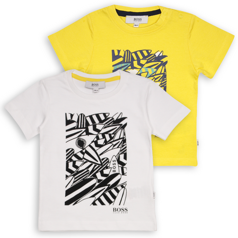 Hugo Boss Kid's Shark Surfboard S/S T-Shirt (S03)
