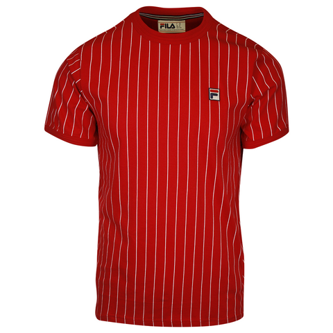 FILA Men's Red & White Striped F-Box S/S T-Shirt (156)
