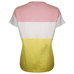 FILA Women's Pink & Yellow Three-Tone Glittered Logo S/S T-Shirt (S11)