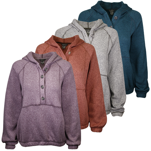 Eddie Bauer Women's Sunray Fleece Pull Over Hoodie (S03)