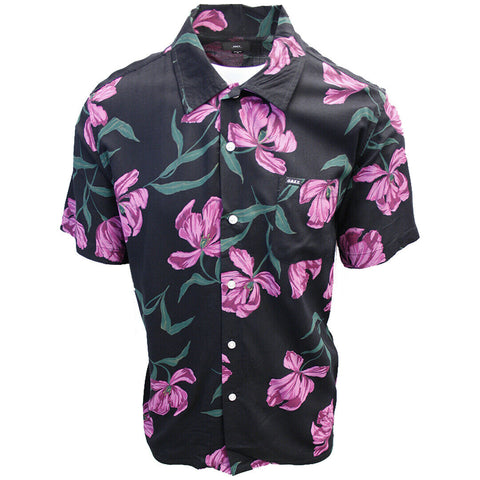OBEY Men's Black Lily S/S Shirt (Retail $59.99) S04