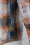 Rip Curl Men's Navy Orange Cream Plaid L/S Flannel Shirt (S12)