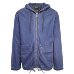 Superdry Men's Mid Blue Denim Hooded Full Zip Jacket