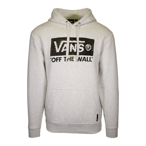 Vans Off The Wall Men's Heather Cream & Grey Camouflage Pullover Hoodie (S13)