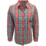 OBEY Women's Grey Red Black Plaid L/S Shirt (S04) Small