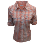 Columbia Women's Cedar Blush Plaid Silver Ridge Lite L/S Shirt 648
