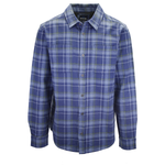 prAna Men's Blue Green L/S Flannel Shirt