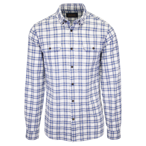 Barbour Men's National Trust Neutral Combe Plaid L/S Woven Shirt (S08)