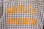 Harley-Davidson Men's Grey Brown Plaid S/S Woven Shirt