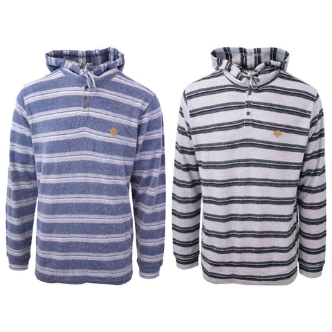 Rip Curl Men's Double Striped L/S Henley Hoodie