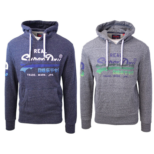 SuperDry Men's Vintage Logo Cotton Blend Pull Over Hoodie