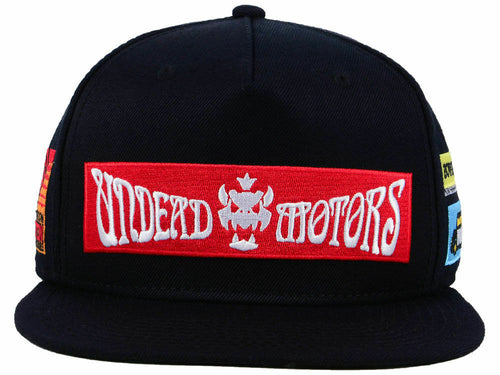 Nintendo Mario Kart Undead Motors Adjustable Black Snapback Hat