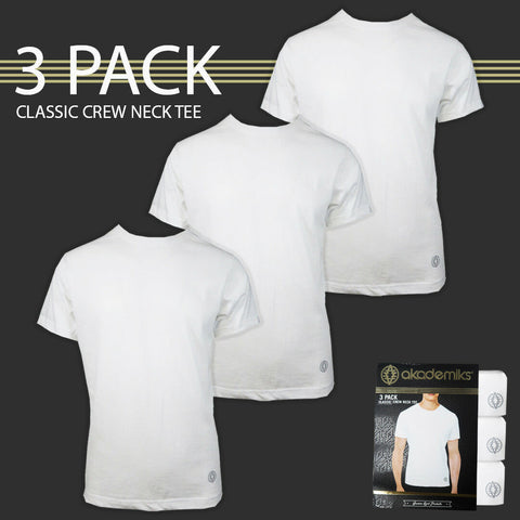 Akademiks Men's 3pc Classic Crew Neck S/S Tee