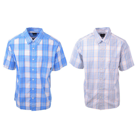 Quik Silver Men's Locked Down Plaid S/S Woven Shirt