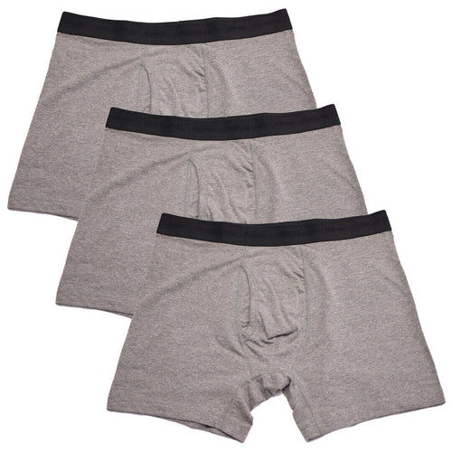 Kenneth Cole Men's 3 Pack Solid Dark Heather Grey Boxer Briefs (S09)