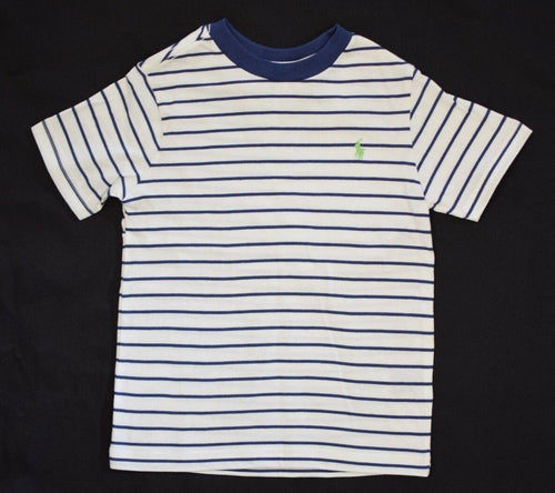 Polo Ralph Lauren Boy's Navy Cream Stripe S/S Tee