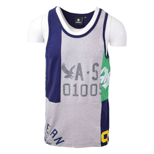 Akademiks Men's Three Tone S/S Tank Top