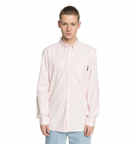 DC Shoes Men's Classic Oxford Light Pink L/S Woven Shirt
