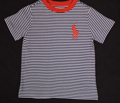 Polo Ralph Lauren Boy's Classic Navy White Stripe S/S Tee
