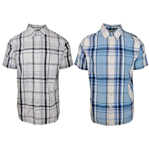 Levi's Men's Plaid S/S Woven Shirt