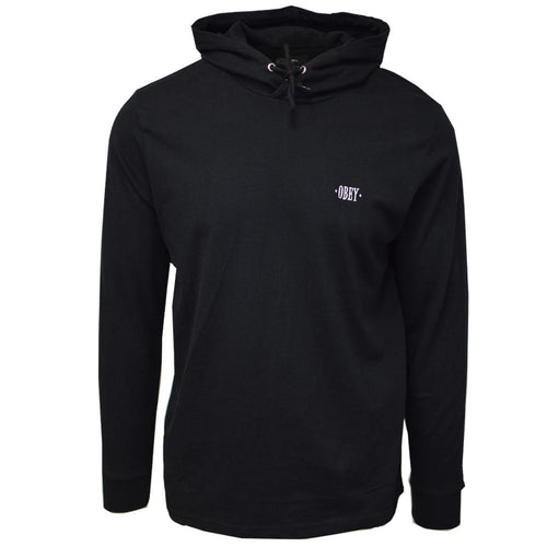 Obey Men's Black Light Weight L/S Pull Over Hoodie