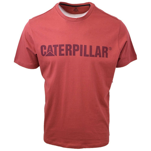 Caterpillar Men's Maroon S/S T-Shirt S12