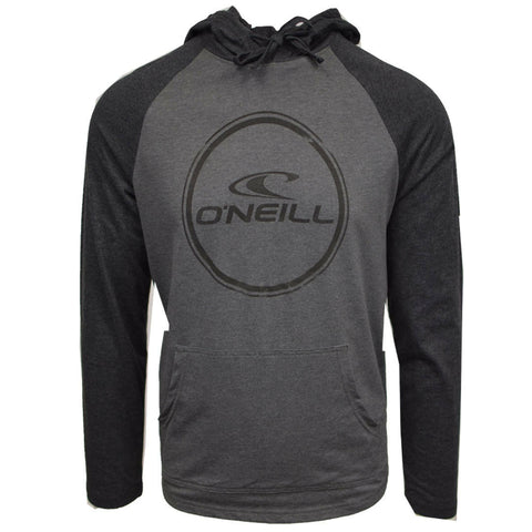 O'Neill Men's Weddle Light Weight Black/Grey L/S Pull Over Hoodie