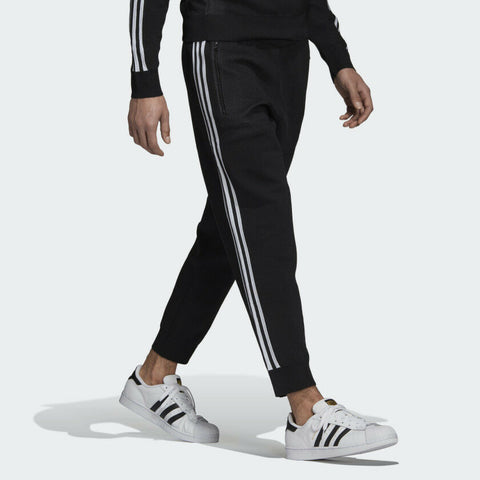 Adidas Men's Black Knitted 3/4 Track Pants