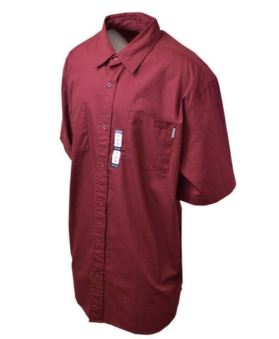 Carhartt Men's S11 Wine Red S/S Woven Shirt XL-3XL