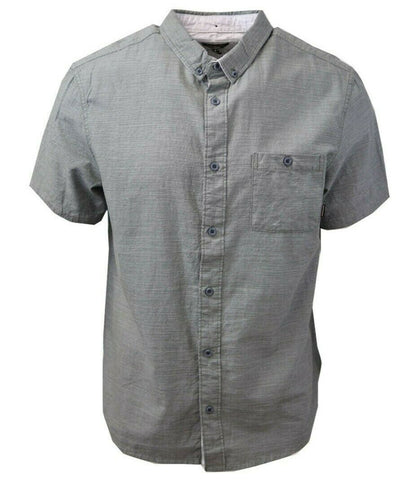 Quiksilver Men's Green Waterfall S/S Woven Shirt