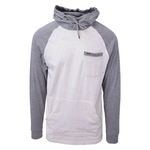 Rip Curl Men's Striped Dark Grey Oatmeal L/S Pullover Hoodie