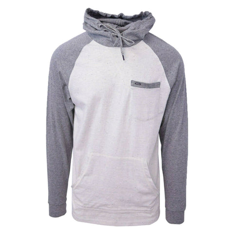 Rip Curl Men's Two-Tone Dark Grey Oatmeal L/S Pullover Hoodie