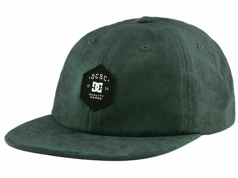 DC Shoes Navy Green-Blue Suedester Adjustable Strapback Hat
