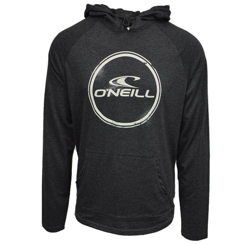 O'Neill Men's Weddle Light Weight Black/White L/S Pull Over Hoodie