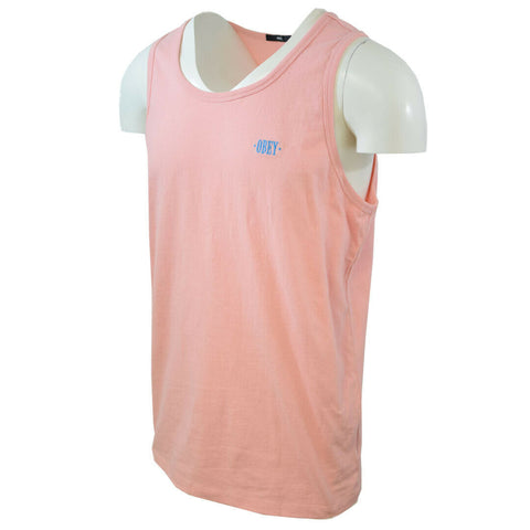 Obey Men's New Times Box Pink Tank Top