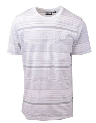 Vans Off The Wall Men's White Striped Climbed-J S/S Tee S02
