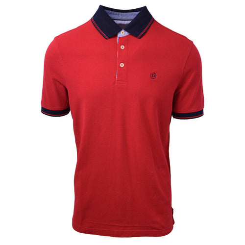 Bugatti Men's Premium Finish Red S/S Polo