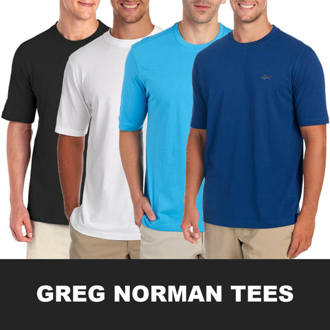 Greg Norman Men's Classic Crewneck S/S Tee