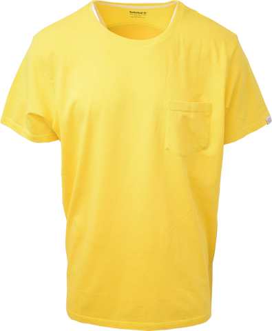 Timberland Men's Banana Yellow Navigate Adventure S/S Tee S19