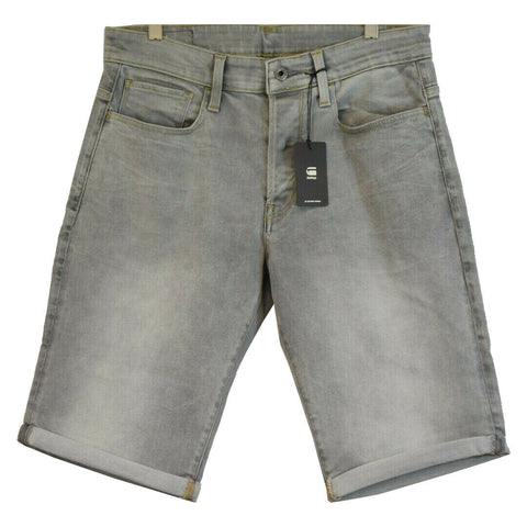 G-Star RAW Men's 3301 Straight Light Aged Grey Denim Shorts