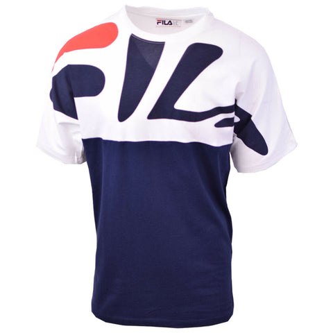 FILA Men's Navy White Liquid S/S Tee (S05)